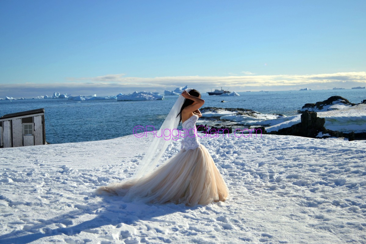 My Antarctica Destination Wedding | 7 Continent Honeymoon | Part 1:  My J'Aton Couture Wedding Dress