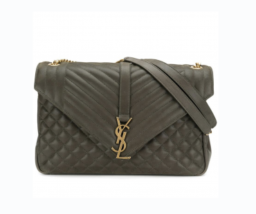 Finally!!! Saint Laurent Army Green & Gold Envelope Bag